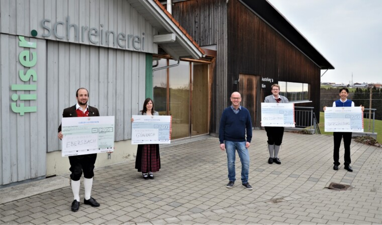 800 Euro Spende an örtliche Musikvereine